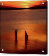 Sunset Over Currituck Sound Ap Acrylic Print
