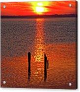 Sunset Over Currituck Sound Acrylic Print