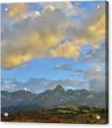 Sunset Over Dallas Divide Acrylic Print
