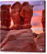 Sunset Over Devils Garden Acrylic Print