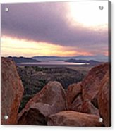 Sunset Over Diamond Valley Lake Acrylic Print by Glenn McCarthy Art and Photography