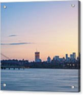 Sunset Over Downtown Manhattan Acrylic Print