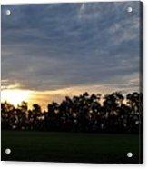 Sunset Over Farm And Trees Acrylic Print