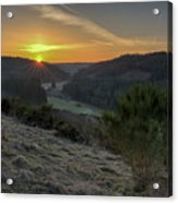 Sunset Over Forest Acrylic Print