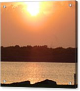 Sunset Over Galveston Bay Acrylic Print