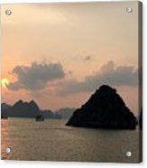Sunset Over Halong Bay - Vietnam  Acrylic Print
