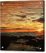 Sunset Over Hawaii Acrylic Print