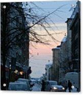 Sunset Over Helsinki Acrylic Print