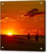 Sunset Over Indiana Dunes Acrylic Print