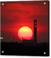 Sunset Over Jackie Robinson Ballpark #2 Acrylic Print