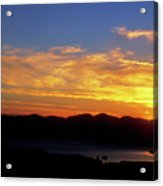 Sunset Over Lake Champlain From Mount Philo Acrylic Print by John Burk