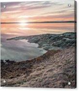 Sunset Over Lake Vanern, Sweden Acrylic Print