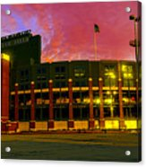 Sunset Over Lambeau Field Acrylic Print