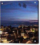 Sunset Over Lausanne   Acrylic Print
