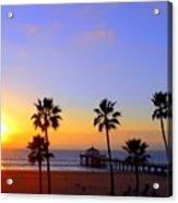 Sunset Over Manhattan Beach Acrylic Print