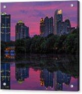 Sunset Over Midtown Acrylic Print by Doug Sturgess