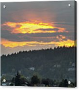 Sunset Over Mount Talbert In Happy Valley Acrylic Print
