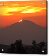 Sunset Over Mt. Woodson Acrylic Print
