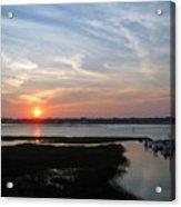 Sunset Over Murrells Inlet Acrylic Print