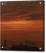 Sunset Over New York Acrylic Print
