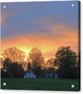 Sunset Over North Common Meadow Acrylic Print