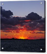 Sunset Over North Meadow Island Acrylic Print
