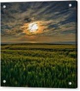 Sunset Over North Pas De Calais In France Acrylic Print