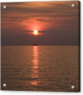 Sunset Over Pula Acrylic Print