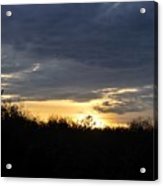 Sunset Over Rural Field Acrylic Print