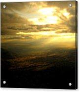 Sunset Over Sandia Mountain Acrylic Print