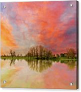 Sunset Over Sauvie Island Acrylic Print