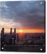 Sunset Over Singapore Acrylic Print