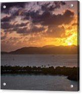 Sunset Over St. Thomas Acrylic Print
