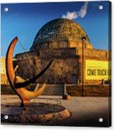 Sunset Over The Adler Planetarium Chicago Acrylic Print