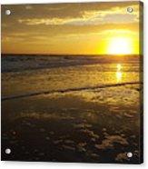 Sunset Over The Beach Acrylic Print