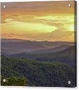 Sunset Over The Bluestone Gorge - Pipestem State Park Acrylic Print