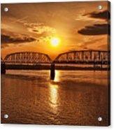 Sunset Over The Bridge Acrylic Print