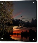 Sunset Over The Caloosahatchee Acrylic Print
