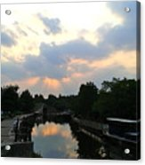 Sunset Over The Canal At Ladbroke Grove. Acrylic Print