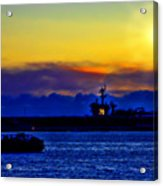 Sunset Over The Carl Vinson Acrylic Print