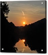 Sunset Over The Coal River Acrylic Print