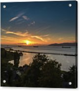 Sunset Over The Columbia River Acrylic Print