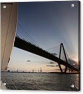 Sunset Over The Cooper River Bridge Charleston Sc Acrylic Print