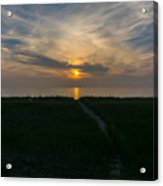 Sunset Over The Dunes  Acrylic Print