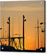Sunset Over The Fleet Acrylic Print