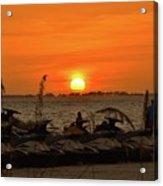 Sunset Over The Gulf 1 Acrylic Print