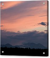 Sunset Over The Kamnik Alps Acrylic Print
