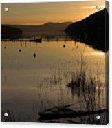 Sunset Over The Lake Acrylic Print