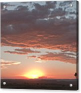 Sunset Over The Mara Acrylic Print