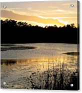 Sunset Over The Marsh Acrylic Print